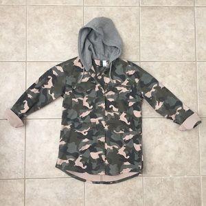 H&M hooded jacket/shirt Size 4